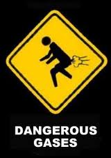 Fart sign - dangerous gases