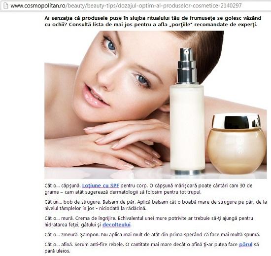 cosmopolitan cosmetice