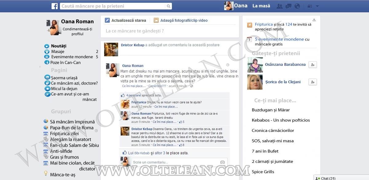 profil facebook oana roman