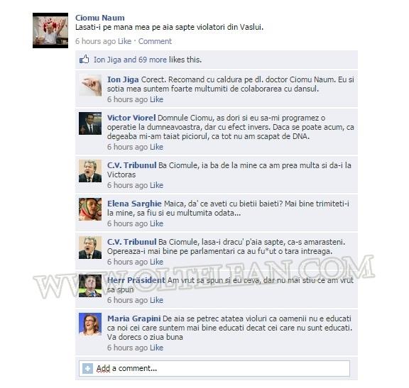Ciomu Facebook - viol Vaslui