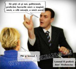 Bancul de duminică: Politicienii preferă lemnul ... și lucrurile mici