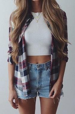 jeansi scurti